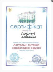 Селезнев сертификат